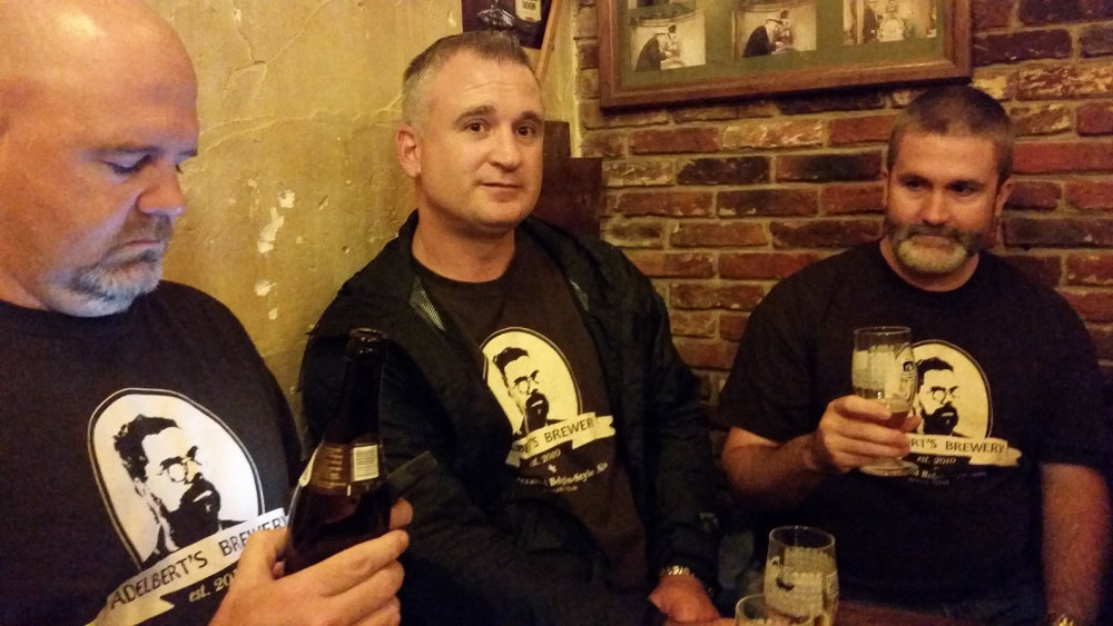 Tasting beer tour at Chez Toone, the puppet-theater, tasting the Orval