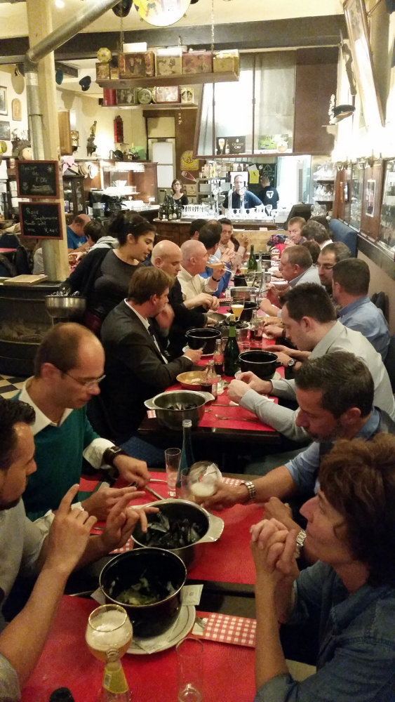 Gourmet tasting at Chez Patrick, a Brussels restaurant near Grand Place